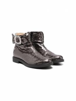 Florens ботинки с эффектами металлик и кракле K2236