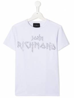 John Richmond Junior футболка с логотипом и заклепками RGA20125TSG9