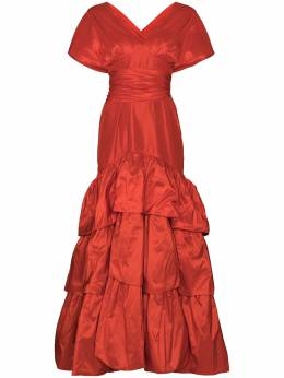 Johanna Ortiz платье Written Heart с открытыми плечами V2478TFSILKTAFFETA