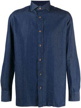 Borrelli джинсовая рубашка на пуговицах EV1830145