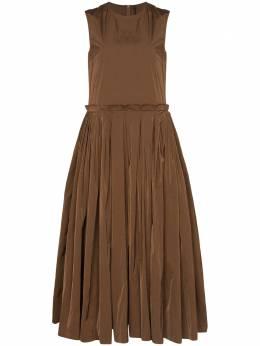 Sara Lanzi платье миди со складками 02JPA107
