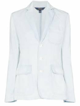 Polo Ralph Lauren блейзер из ткани с эффектом денима 211799797
