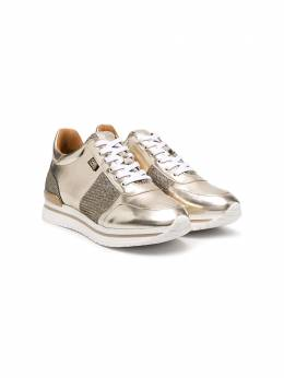 Karl Lagerfeld Kids кроссовки с эффектом металлик Z19042
