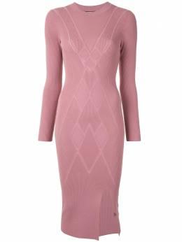 Alexis платье миди с боковым разрезом EMILY