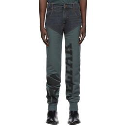 Telfar Black and Blue Sweatpant Jeans FW20-D-13