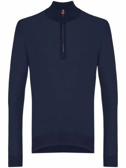 Kiton рубашка поло с длинными рукавами UK899W20K235006