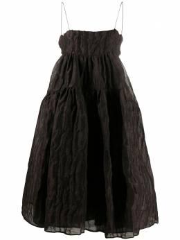 Cecilie Bahnsen расклешенное платье миди AW200022