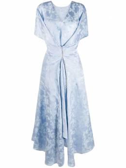 Loewe платье с принтом и декоративными пуговицами S540335XCJ