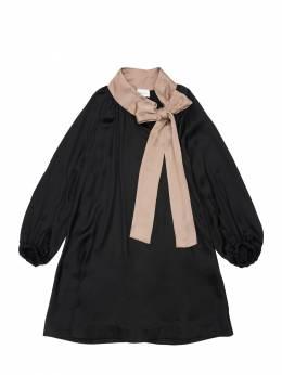 Платье С С Объемными Рукавами Unlabel 72IFIN003-QkxBQ0svTlVERQ2