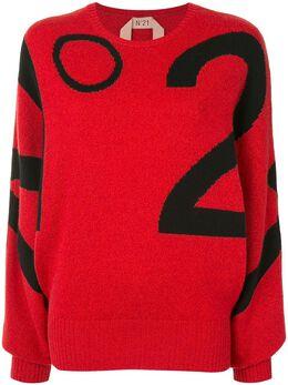 No. 21 свитер с логотипом вязки Intarsia 20IN2M0A0157084