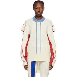 Ambush Off-White Wool Folding Sweater BMHE003F20KNI0010284