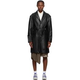Ader Error Black Leather Norman Coat BTAFWCT02BK