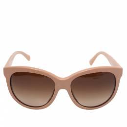 Dolce&Gabbana Salmon Pink/ Brown Gradient DG4149 Oversized Sunglasses 338677