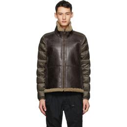 Ten C Brown Shearling Liner Jacket 20CTCUD03115 5873