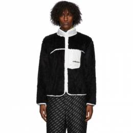 Ambush Black Eco-Fur Jacket BMEA001F20FLE0011000