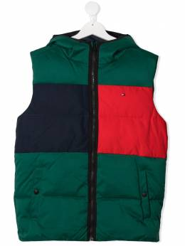 Tommy Hilfiger Junior дутый жилет в стиле колор-блок KB0KB05989