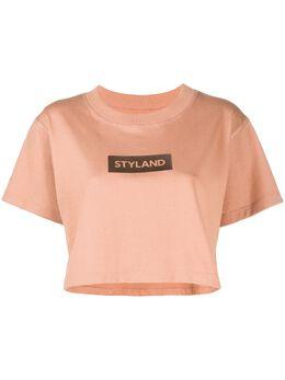 Styland укороченная футболка с логотипом T014200201SB12M