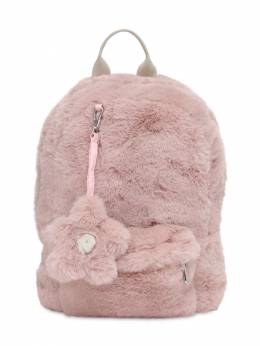 Faux Fur Backpack Il Gufo 72I8Z9137-MzMxMQ2