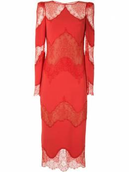 Zuhair Murad платье миди с кружевными вставками DRP20302