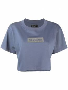 Styland укороченная футболка с логотипом T014200201SB12GI
