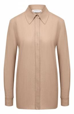 Рубашка из шерсти и кашемира Gabriela Hearst 120117 W039