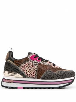 Liu Jo кроссовки со вставками и леопардовым принтом BF0069PX072S1629
