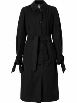Burberry пальто миди Tropical с завязками на манжетах 8032138