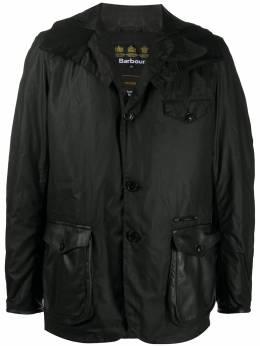 Barbour однобортное пальто Supa-Com MWX1748BK71