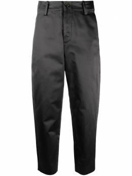 Uma Wang укороченные брюки широкого кроя A0WUW3027