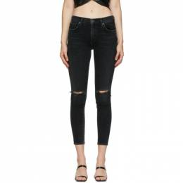 Agolde Black Sophie Mid-Rise Ankle Jeans A123B-1274