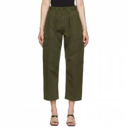 Agolde Khaki Mari Utility Trousers A142-1180