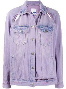 Sjyp джинсовая куртка с прорезями PW2A1NJC079W