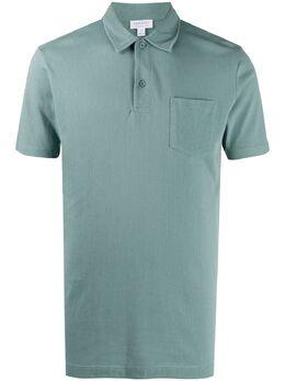Sunspel рубашка поло с короткими рукавами MPOL1026BULA