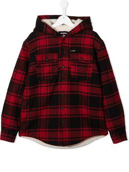 Dsquared2 Kids куртка в клетку DQ0487D00ZT