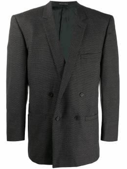 Versace Pre-Owned двубортный пиджак 1980-х годов VR380