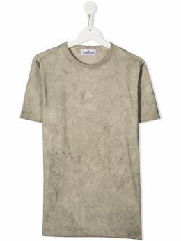 Stone Island Junior футболка с принтом MO731621752