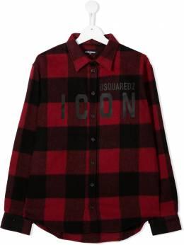 Dsquared2 Kids рубашка Icon в клетку DQ04HXTD003B