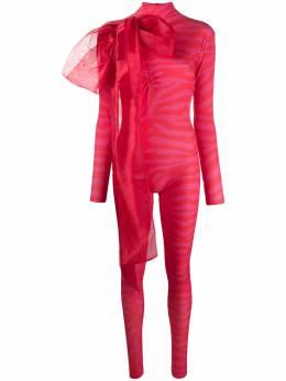 Atu Body Couture комбинезон с анималистичным принтом ATFW2104