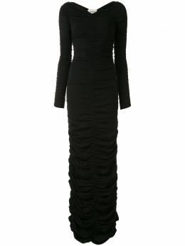 Khaite приталенное платье Lana со сборками 8458400