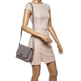 Kate Spade Pale Lilac Leather Logo Plague Flap Shoulder Bag 339698