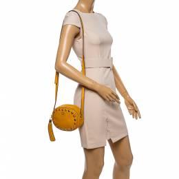 Kate Spade Yellow Leather Devoe Street Tinley Crossbody Bag 338836