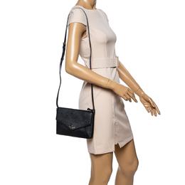 Kate Spade Black Leather Cedar Street Monday Crossbody Bag 339702