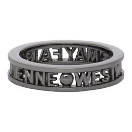 Vivienne Westwood Gunmetal Westminster Ring 64040016-S001
