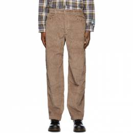 Phipps Taupe Corduroy Studded Trousers PHFW20-P06