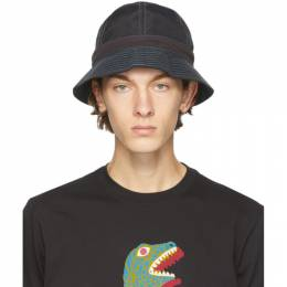 Ps by Paul Smith Black Nylon Canvas Bucket Hat M2A-386F-EH576