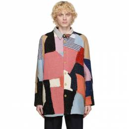 By Walid Multicolor Cashmere Repatch Miles Shirt Jacket 210961M