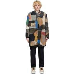 By Walid Multicolor Cashmere Repatch Miro Cardigan 250967M