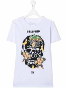 Philipp Plein Junior футболка с логотипом BTK1022PJY002N