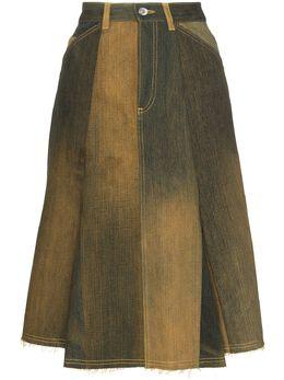 Marine Serre расклешенная юбка с эффектом омбре S051FW20WU