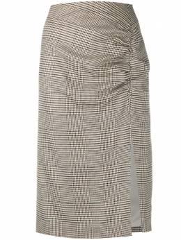 Veronica Beard клетчатая юбка-карандаш со сборками 2008HT0113326
